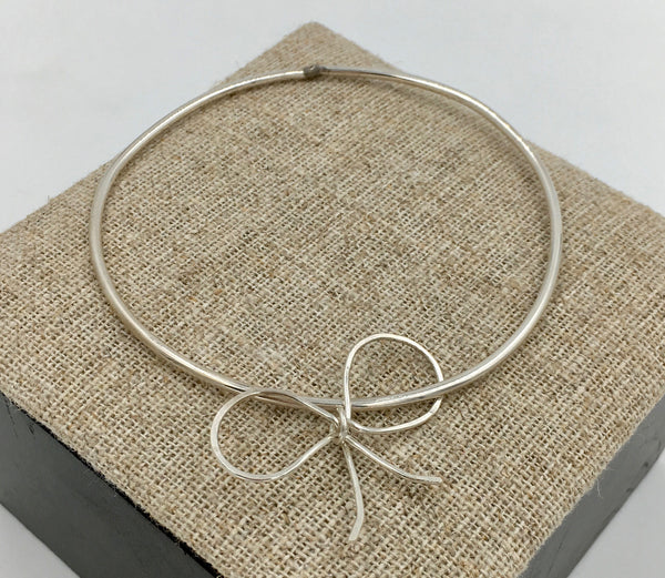 Bangle - Sterling Ribbon Bracelet