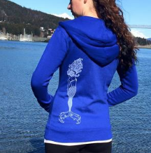 Hoodie - Mermaid Anchor on Royal Blue