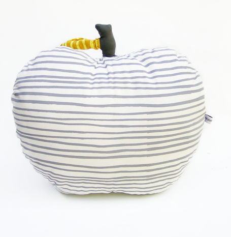Large Cushion - Apple - Milk Striped