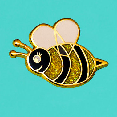 Enamel Pin - Glitter Bee