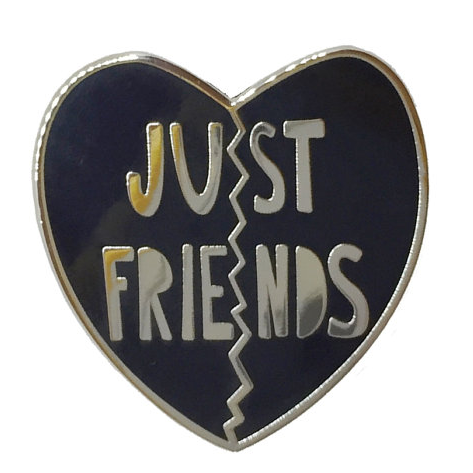 Enamel Pin - Just Friends - 1""