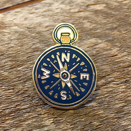 Enamel Pin - Compass