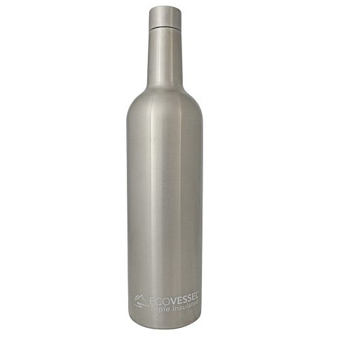 VINE - Insulated Wine Bottle - Silver Express