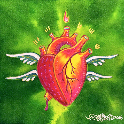 Painting - Seraph Heart - 5