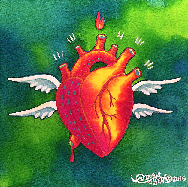 Painting - Seraph Heart - 8