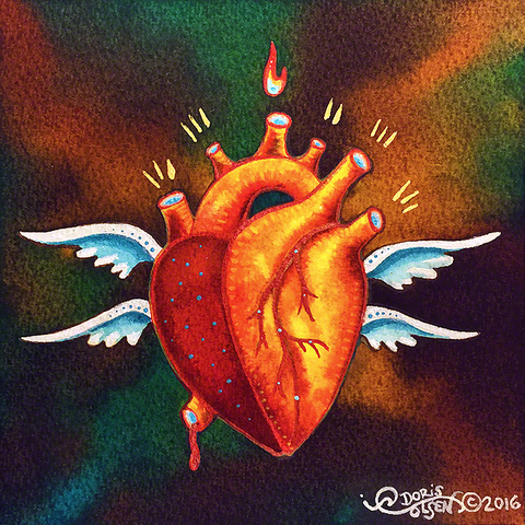 Painting - Seraph Heart - 4