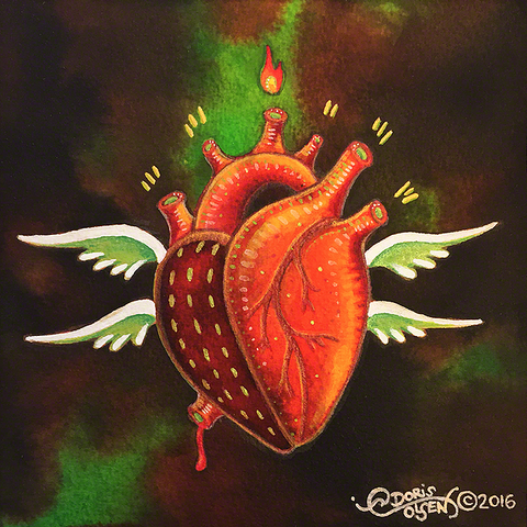Painting - Seraph Heart - 2
