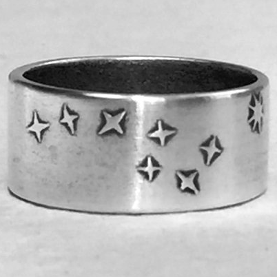 Ring - Big Dipper - SS over Brass