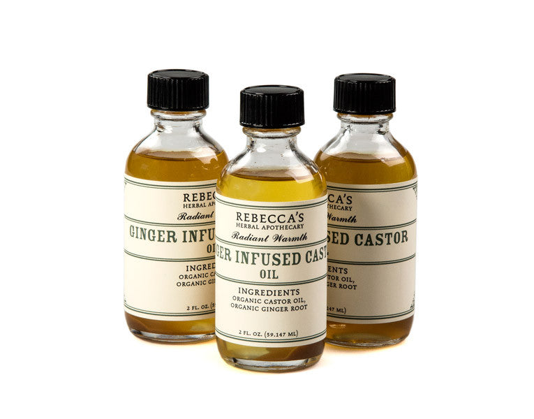 Ginger Infused Castor Oil Rebecca S Herbal Apothecary