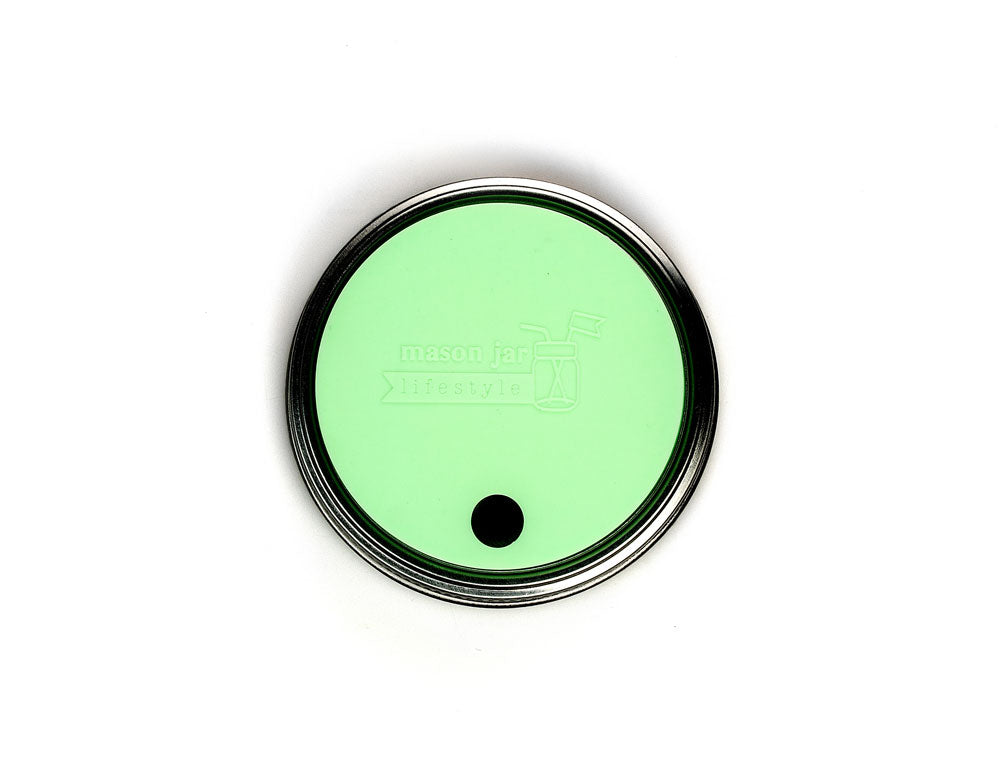 Silicone Drinking Lid with Straw Hole - Wide Mouth