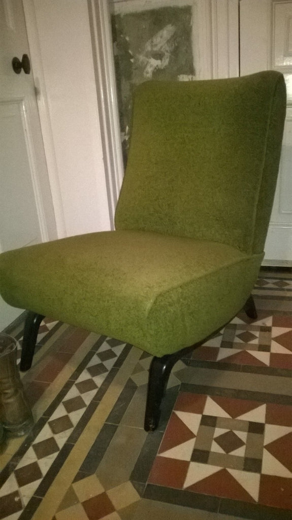 1960s Low Easy Chair in Olive Green