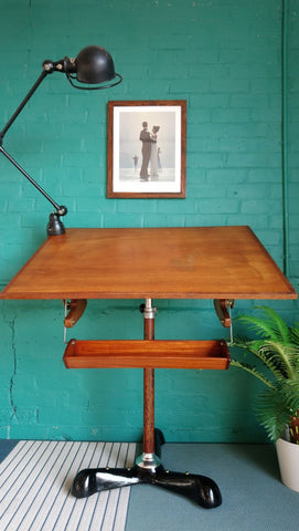 Fabulous 1930s Art Deco Drafting Table / Drawing Board