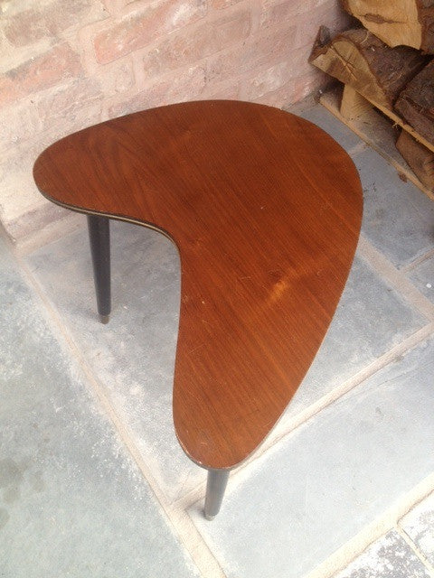 Boomerang Side Table with Brass Tipped Dansette Legs