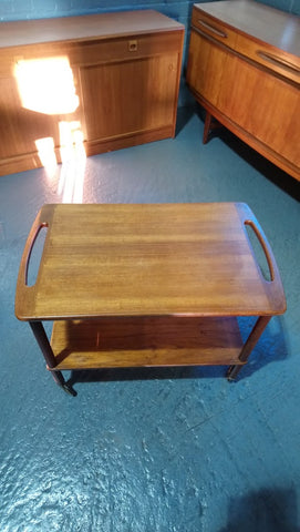Mid-Century Danish Butler's Trolley In Teak By Bowa (1960s)