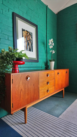 6ft Mid-Century Teak Sideboard Made For The Co-operative Wholesale Society 1960s