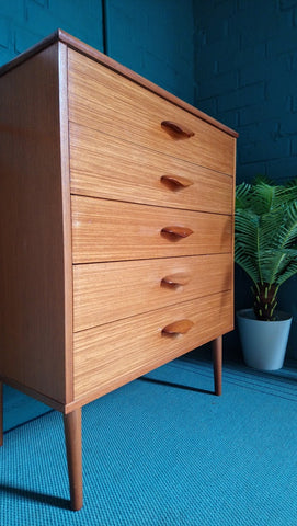 Compact Danish-Style Chest Of Drawers With Great Handles