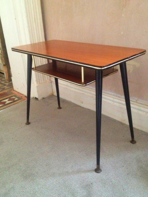 1960s Coffee Table with Magazine Shelf and Lovely Long Dansette Legs