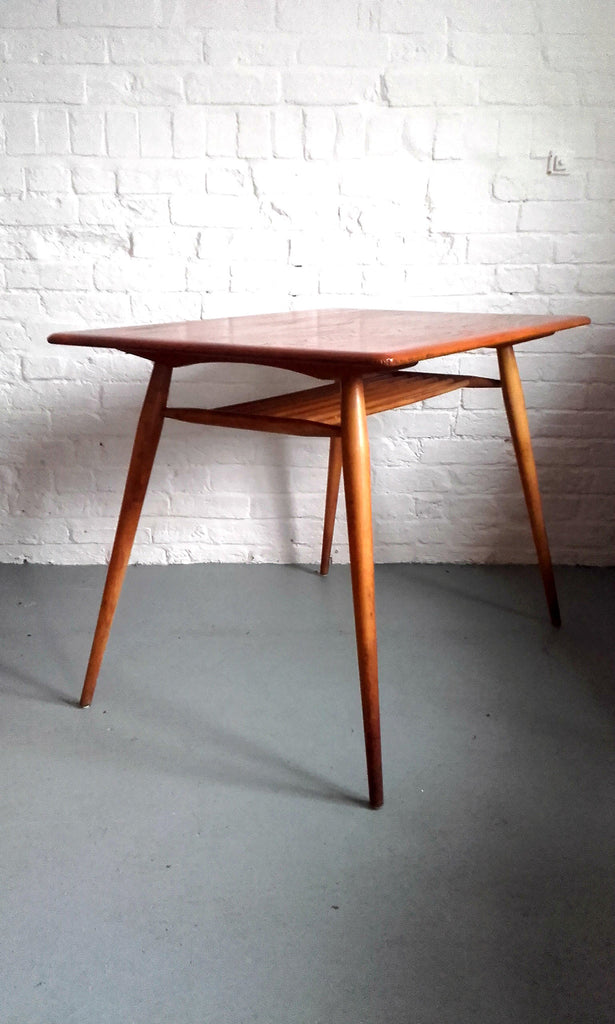 Beautiful Compact Ercol Dining Table With Magazine Shelf