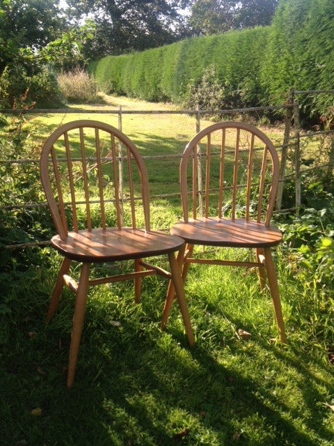 1970s Ercol Windsor Chairs (pair)