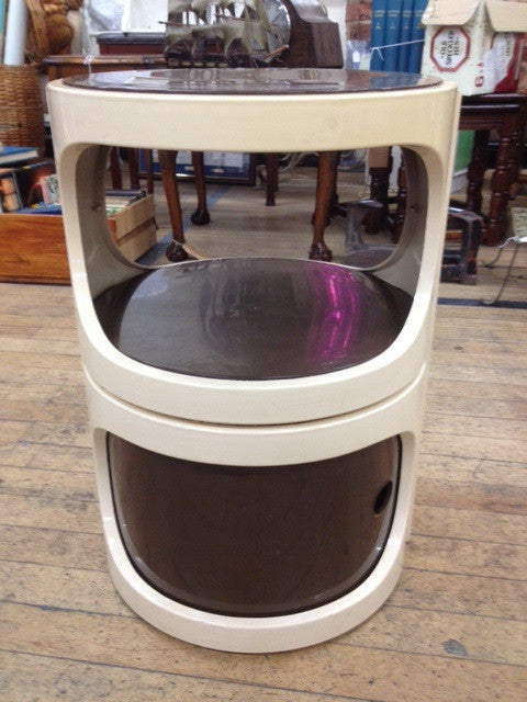 1960s / 70s Plastic Cylindrical Plastic Bedside Cabinet by Flair of Holland