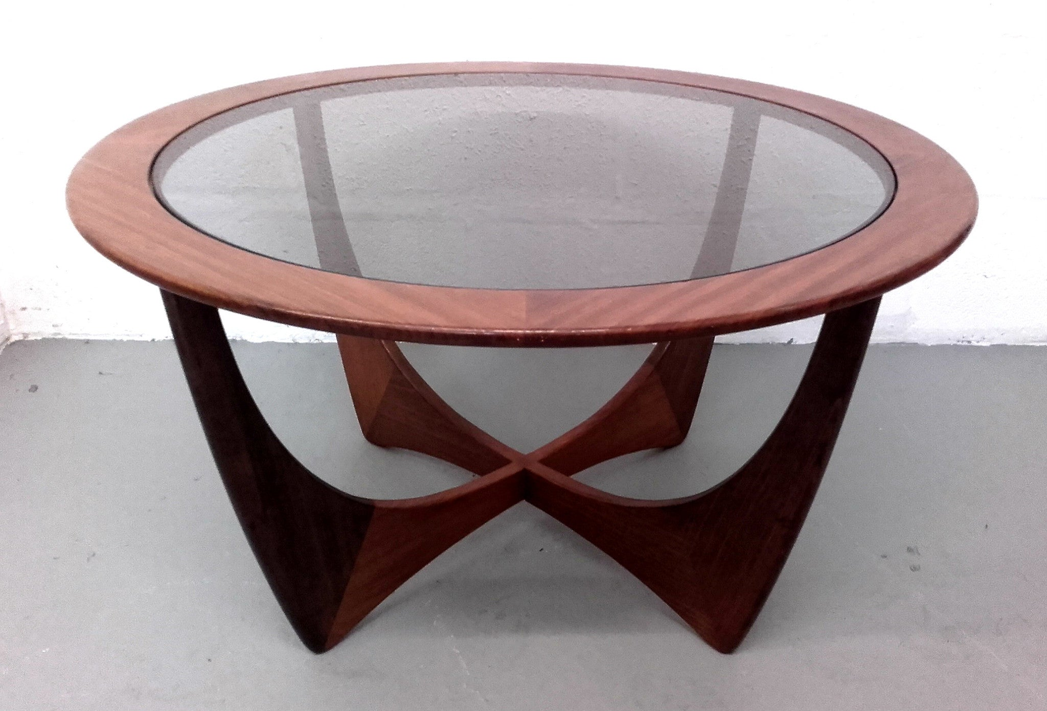 Iconic G Plan Astro Teak And Smoked Glass Coffee Table – Whittaker