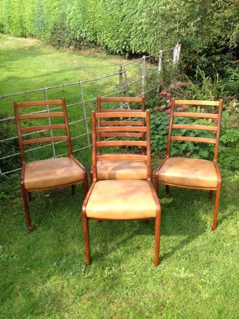 1960s G-Plan Maple Wood Dining Chairs (set of 4)