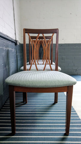 Lovely Set Of Four G-Plan Crescent Back Dining Chairs