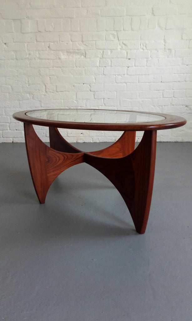 Beautiful G-Plan Oval Astro Teak & Glass Coffee Table
