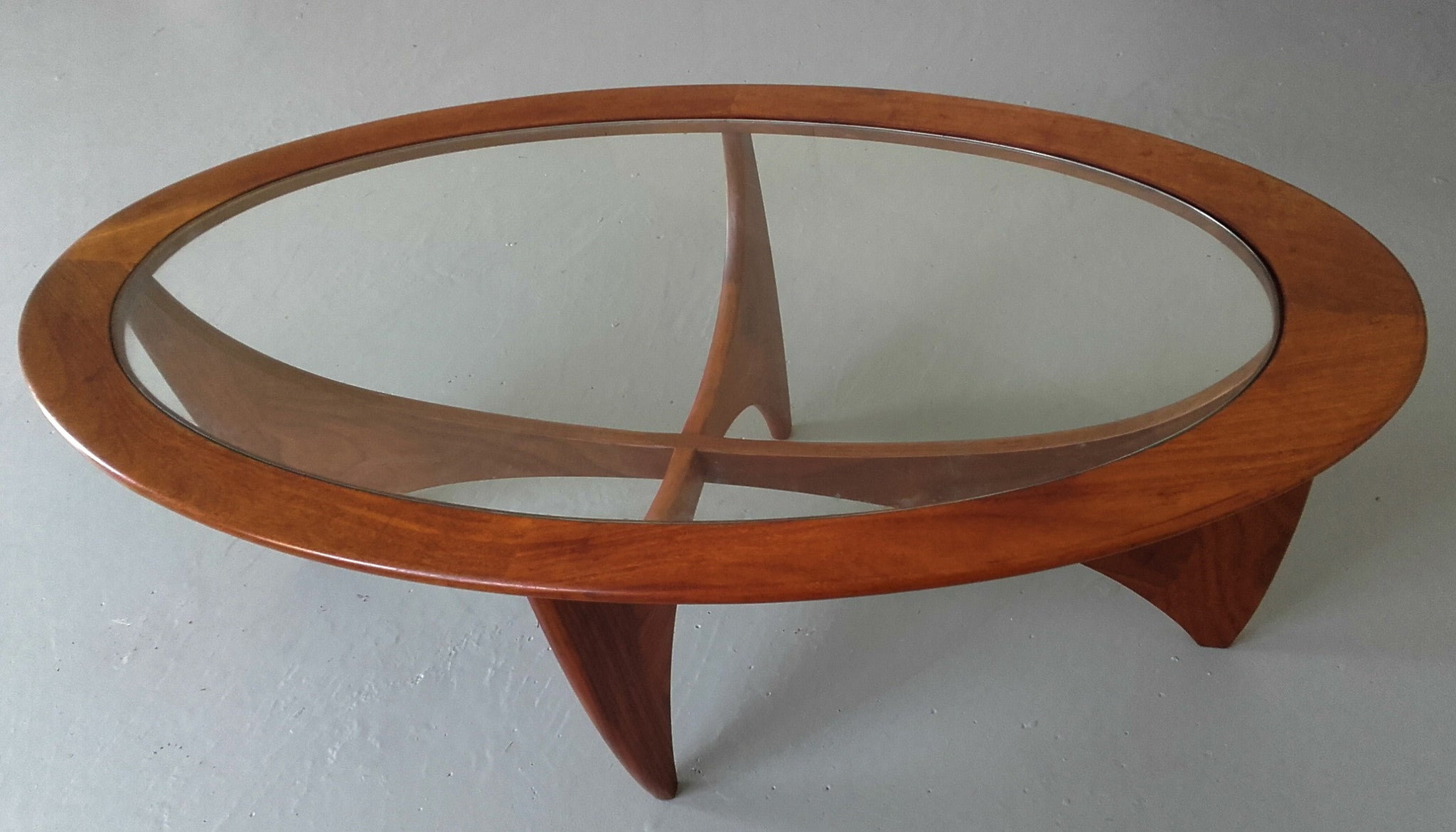Stunning G Plan Oval Astro Teak & Glass Coffee Table – Whittaker