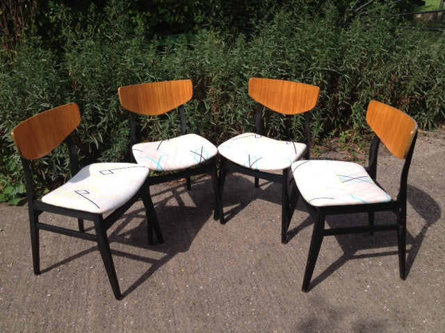 c1960s G-plan Style Dining Chairs (set of 4)