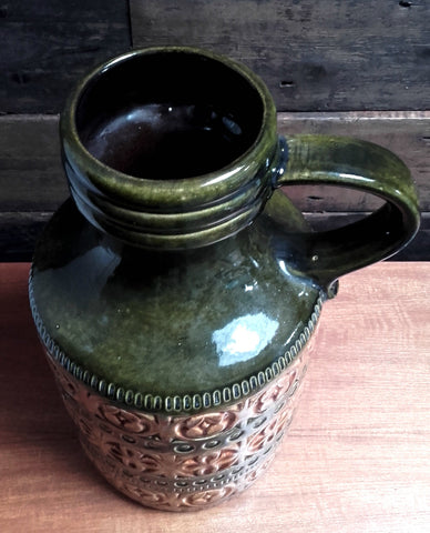 Unusual West German Jug-Style Vase