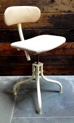 Cool Vintage Industrial Machinist's Chair By Tan-Sad