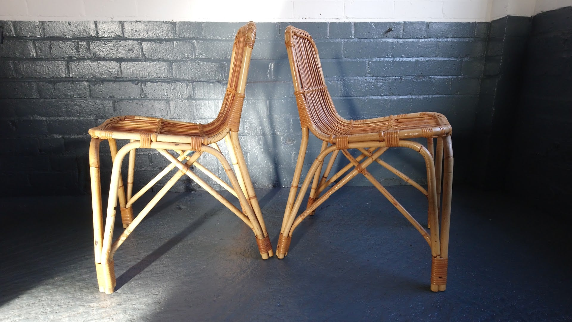 Pair Of Rare Danish Bent Cane Chairs By Laurids Lonborg