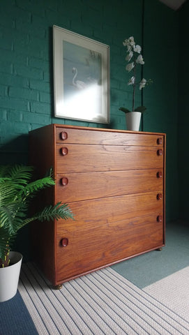 Impressive Mid-Century Meredew Chest Of Drawers In Teak 1960s