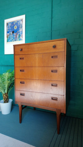 Nathan Tall Five Drawer Chest Of Drawers