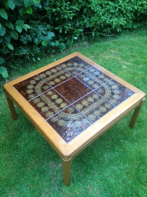 Nathan Tiled Top Square Coffee Table Whittaker Gray