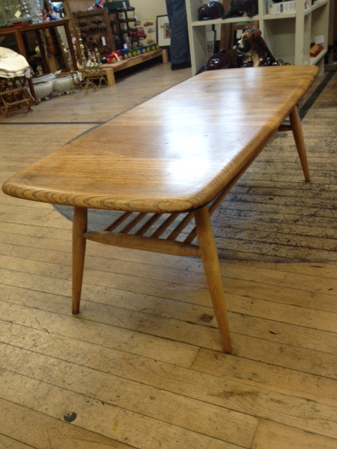 Ercol Coffee Table in Elm and Beech. Ercol Coffee Table in Elm and Beech   Whittaker   Gray