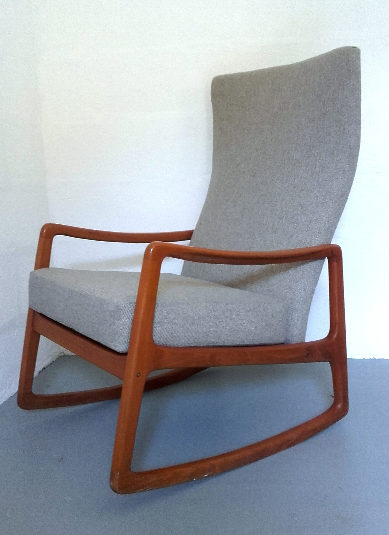 Danish Modern Rocking Chair Model #160 By Ole Wanscher For France U0026 Son