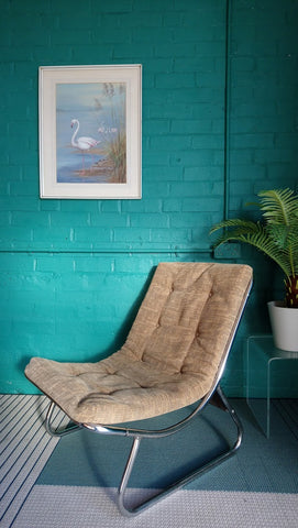 Classic Modernist 1970s Peter Hoyte Sling Chair (1 of 2)