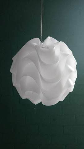 Poul Christiansen Style Sinus Wave Form Ceiling Pendant Lampshade (2 Available)