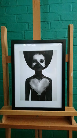 Striking Ruben Ireland Contemporary Art Print Framed