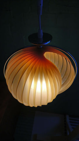 Shell-Like Vintage Ceiling Pendant Light