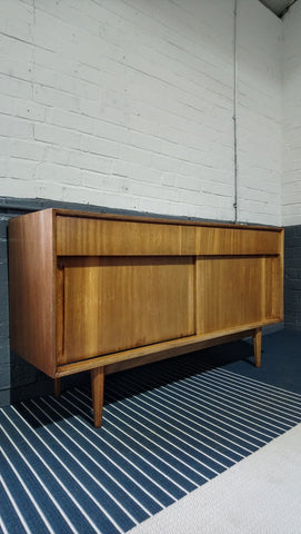 Stylish Yet Compact Sideboard With Fluted Legs