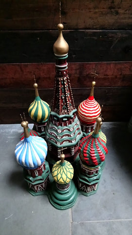 Unique Hand Made Scratch Built Model Of St Basil's Cathedral