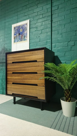 Stag 'C' Range 4 Drawer Chest Of Drawers In Walnut By John & Sylvia Reid