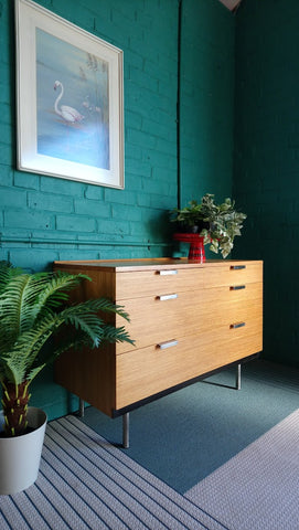 "Mid-Century Stag ""Fineline"" Chest Of Drawers By John & Sylvia Reid"