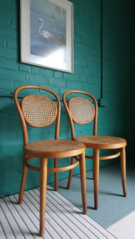 Lovely Pair Of Early 20th Century Bentwood Cafe Chairs (Probably By Thonet)