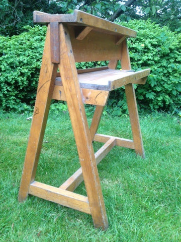 Pair of Vintage School Trestle Easels in Original Condition