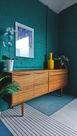 Mid-Century Sideboard In Walnut With Long Handles 1960s