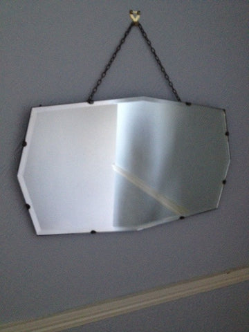 Wide Hexagonal Wall Mirror